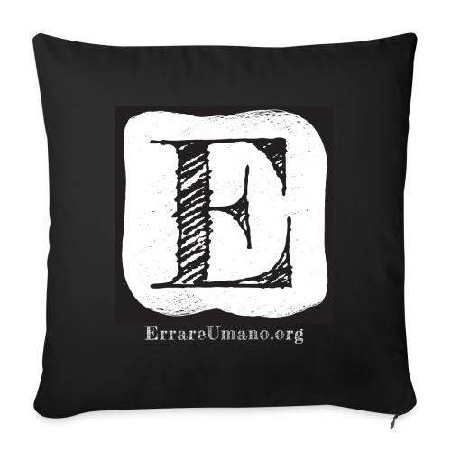 Logo ErrareUmano con scritta bianca - Cuscino da divano 44 x 44 cm con riempimento