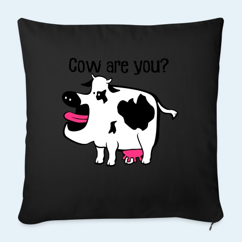 Cow are you? - Cojín de sofá con relleno 44 x 44 cm