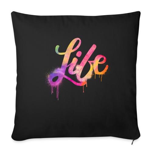 life - Cuscino da divano 44 x 44 cm con riempimento