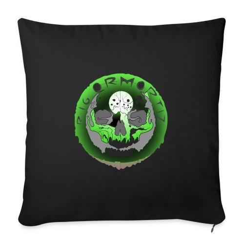 Rigormortiz Metallic Green Design - Sofa pillow with filling 45cm x 45cm