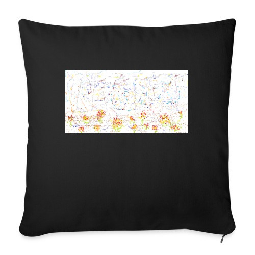 flores - Cojín de sofá con relleno 44 x 44 cm