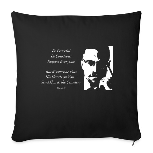 Malcolm X [#1] - Sofa pillow with filling 45cm x 45cm
