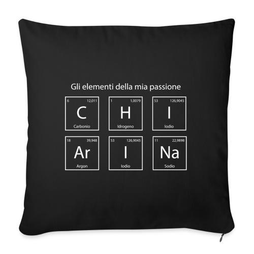 elementi chimici chiarina2 - Cuscino da divano 44 x 44 cm con riempimento