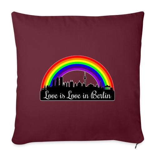 Love is Love in Berlin - Sohvatyynyt täytteellä 44 x 44 cm