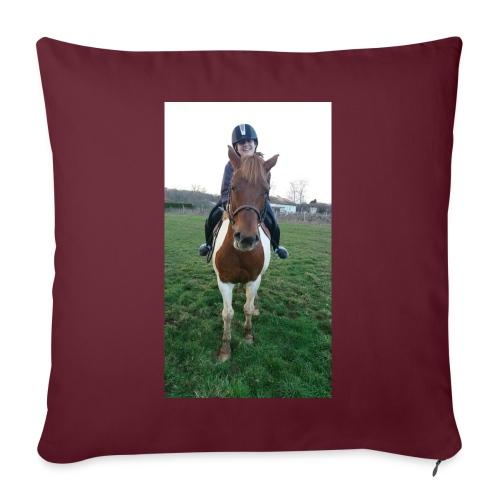 équitation - Coussin et housse de 45 x 45 cm