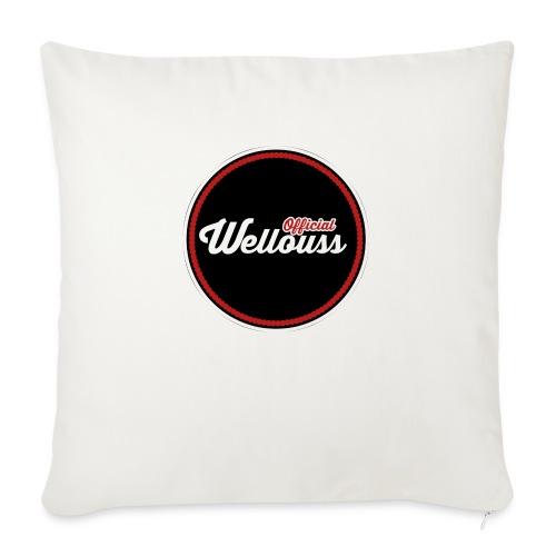 Wellouss Fan T-shirt | Rood - Bankkussen met vulling 44 x 44 cm