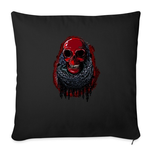 Red Skull in Chains - Sofa pillow with filling 45cm x 45cm