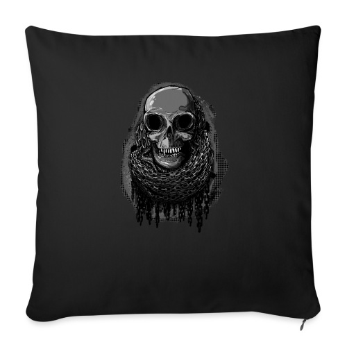 Skull in Chains - Sofa pillow with filling 45cm x 45cm
