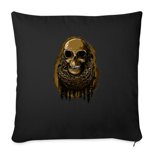 Skull in Chains YeOllo - Sofa pillow with filling 45cm x 45cm