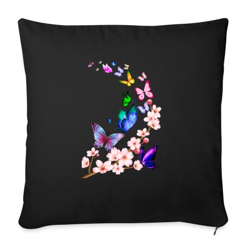 Butterfly dance dance - Sofa pillow with filling 45cm x 45cm