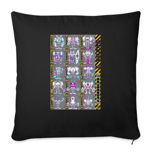 #MarchOfRobots ! NR 16-30 - Sofapude med fyld 44 x 44 cm