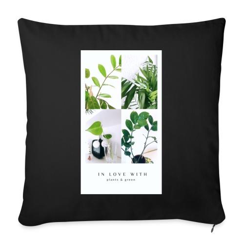 Plants & green - Sofapude med fyld 44 x 44 cm