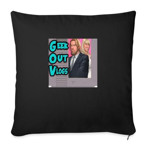 GeekOut Vlogs NES logo - Sofa pillow with filling 45cm x 45cm
