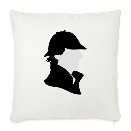 Sherlock Holmes Funny Hat - Sofakissen mit Füllung 44 x 44 cm