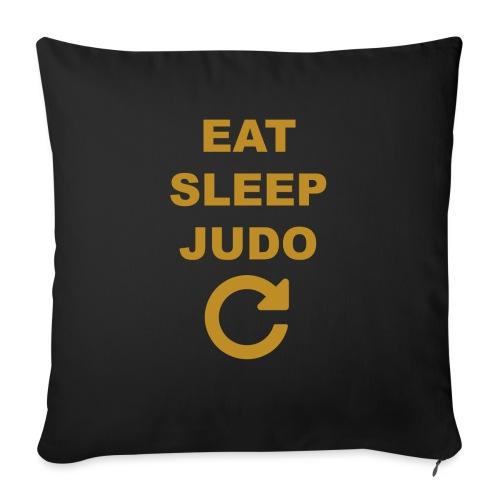 Eat sleep Judo repeat - Poduszka na kanapę z wkładem 44 x 44 cm