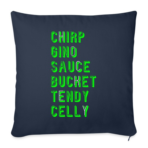 Hockey Slang - Chirp Gino Sauce Bucket Tendy Celly - Sofa pillow with filling 45cm x 45cm