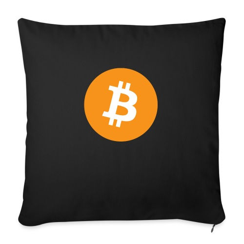 Bitcoin - Sofa pillow with filling 45cm x 45cm