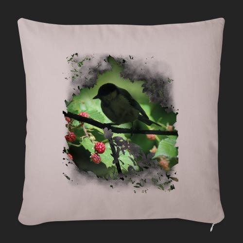 Petit oiseau dans la forêt - Coussin et housse de 45 x 45 cm