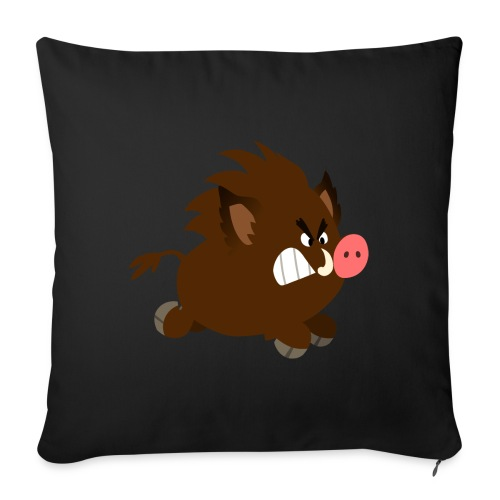 Angry Cartoon Wild Boar by Cheerful Madness!! - Sofa pillow with filling 45cm x 45cm