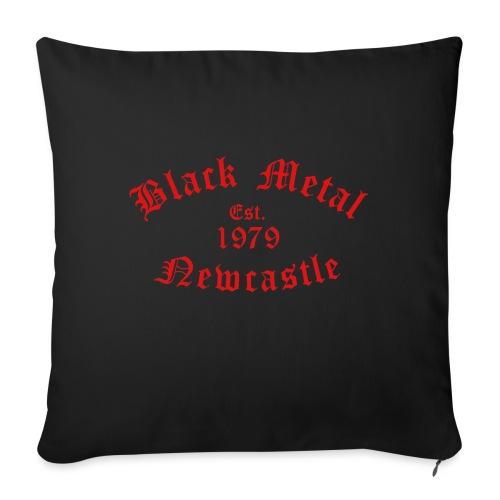 Black Metal / Est.1979 / Newcastle - Sofa pillow with filling 45cm x 45cm