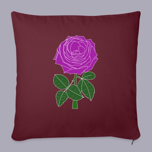 Landryn Design - Pink rose - Sofa pillow with filling 45cm x 45cm