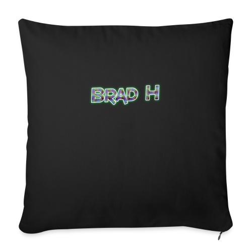 Official Brad H Logo - Sofa pillow with filling 45cm x 45cm