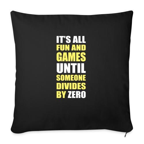 Divide by Zero - Poduszka na kanapę z wkładem 44 x 44 cm