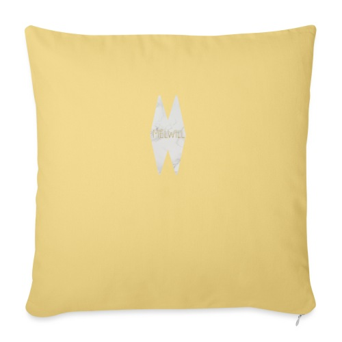 MELWILL white - Sofa pillow with filling 45cm x 45cm
