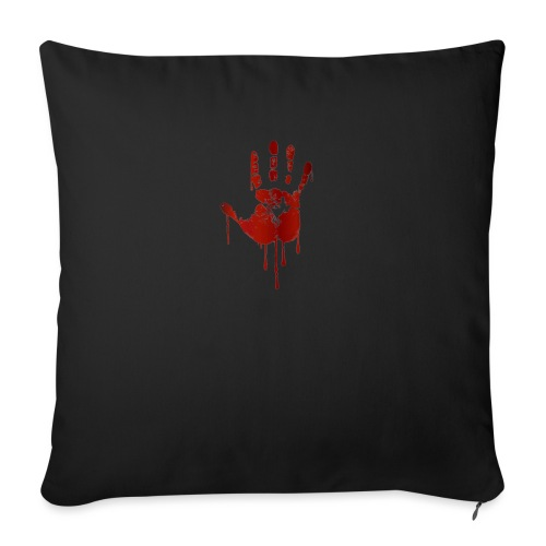bloody hand - Sofapude med fyld 44 x 44 cm