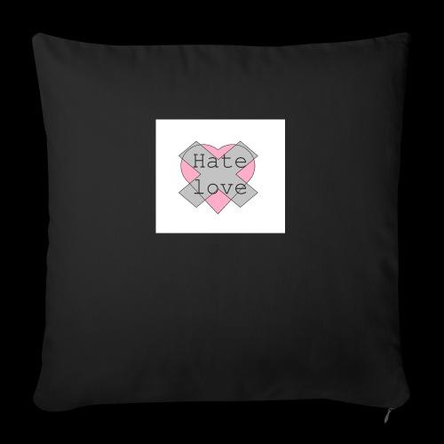Hate love - Cojín de sofá con relleno 44 x 44 cm