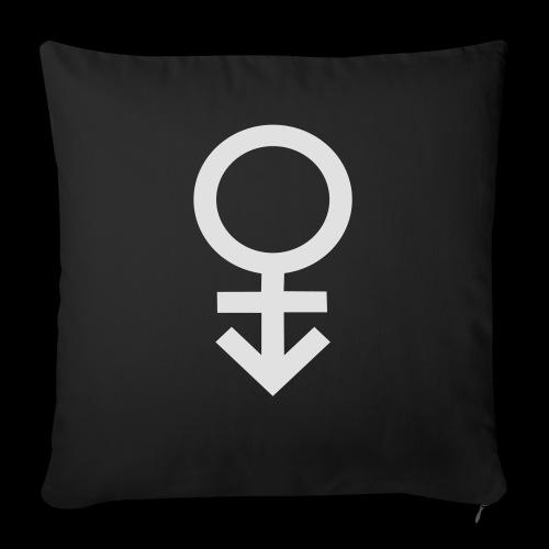 Genderqueer symbol - Sofa pillow with filling 45cm x 45cm