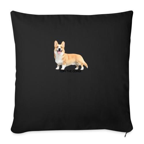 Topi the Corgi - Black text - Sofa pillow with filling 45cm x 45cm