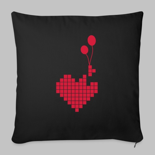 heart and balloons - Sofa pillow with filling 45cm x 45cm
