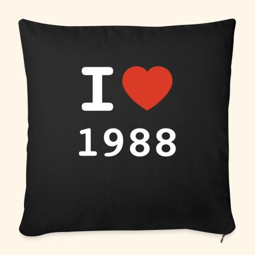 I Love 88 w p 001 - Sofakissen mit Füllung 44 x 44 cm