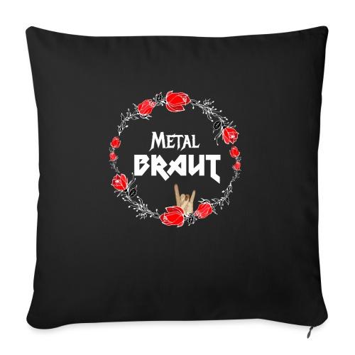 Metal Braut für den Junggesellinnenabschied - Sofakissen mit Füllung 44 x 44 cm