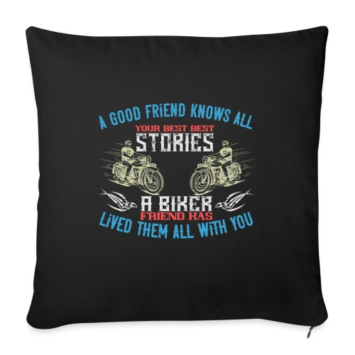 Biker stories. - Sofa pillow with filling 45cm x 45cm