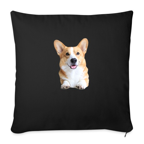 Topi the Corgi - Frontview - Sofa pillow with filling 45cm x 45cm