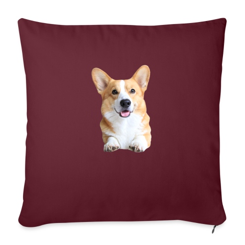 Topi the Corgi - Frontview - Sofa pillow with filling 45cm x 45cm