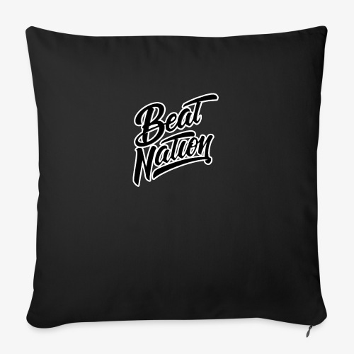 Logo Officiel Beat Nation Noir - Sofakissen mit Füllung 44 x 44 cm