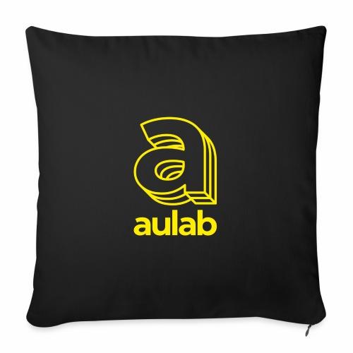 Marchio aulab giallo - Cuscino da divano 44 x 44 cm con riempimento
