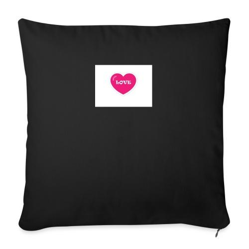 Spread shirt hjärta love - Soffkudde med stoppning 44 x 44 cm