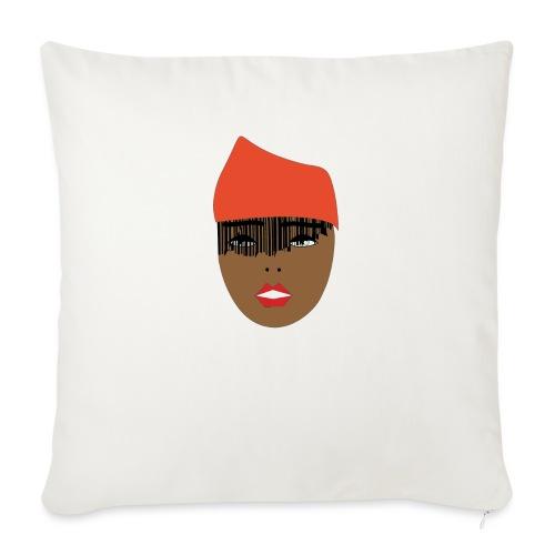 Orange lady - Soffkudde med stoppning 44 x 44 cm