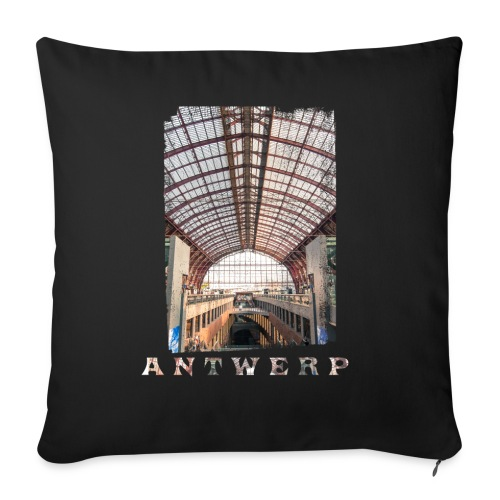 Antwerpen | Centraal Station - Bankkussen met vulling 44 x 44 cm