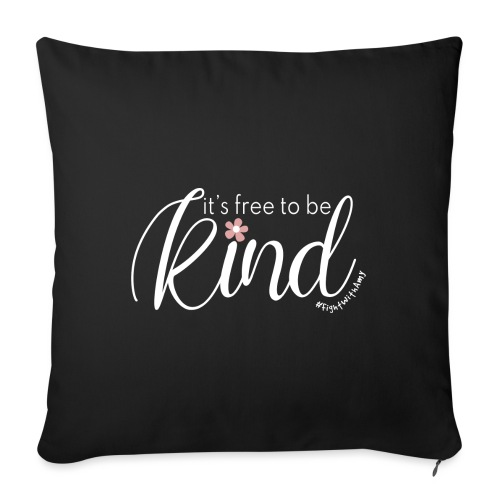 Amy's 'Free to be Kind' design (white txt) - Sofa pillow with filling 45cm x 45cm