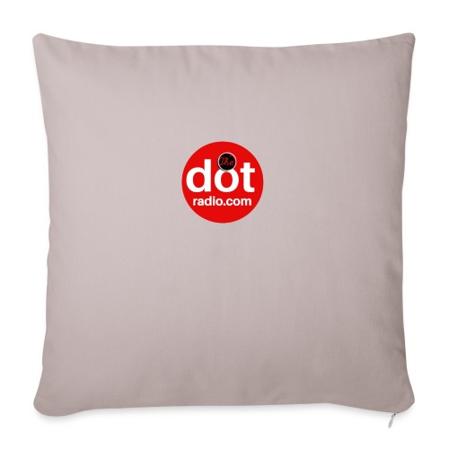 TheDotRadio.com LOGO - Sofa pillow with filling 45cm x 45cm