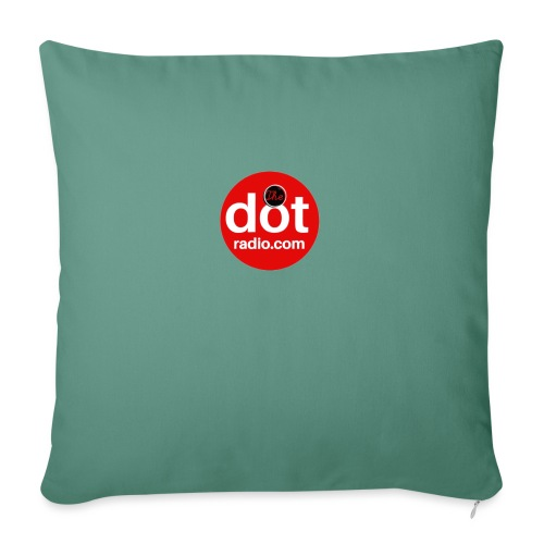 TheDotRadio.com LOGO - Sofa pillow with filling 45cm x 45cm