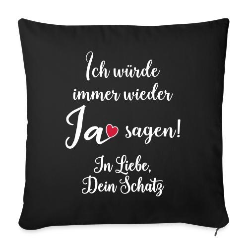 Liebe Ehe Mann Frau Geschenk Verheiratet Spruch - Sofakissen mit Füllung 44 x 44 cm