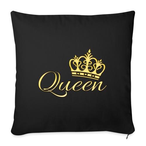 Queen Or -by- T-shirt chic et choc - Coussin et housse de 45 x 45 cm