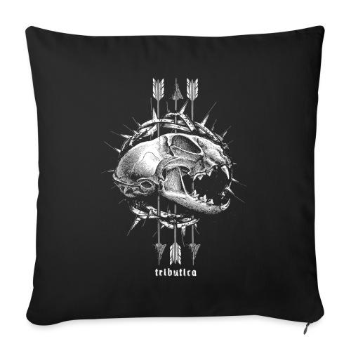 Death Cat by Tributica® - Sofakissen mit Füllung 44 x 44 cm