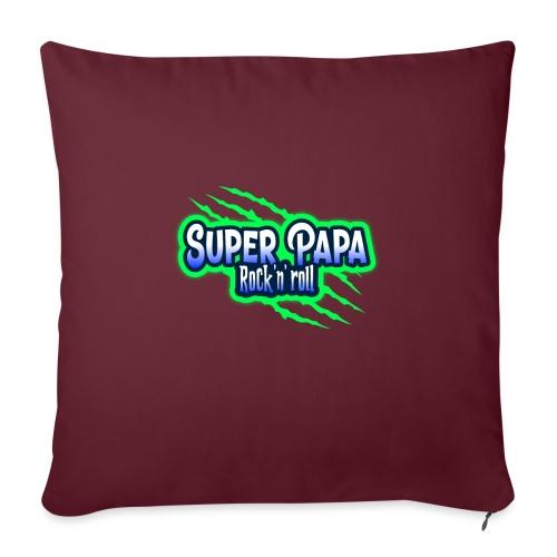 super papa rock'n' roll - Coussin et housse de 45 x 45 cm